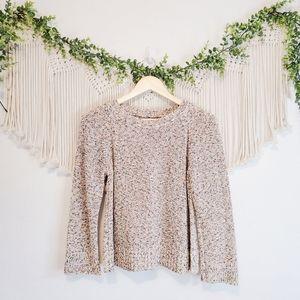 LOU & GREY LOFT Colorful Multicolor Knit Rainbowstitch Pullover Sweater sz S